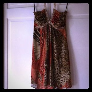 Gorgeous SKY Tunic Top ir Mini Dress S/M